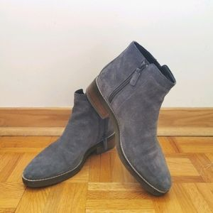 Cole Haan 9 grey ankle suede boots